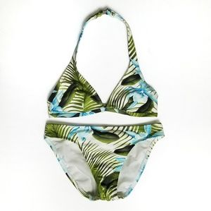 Tommy Bahama Size 6 Bikini Flower Palm Fronds